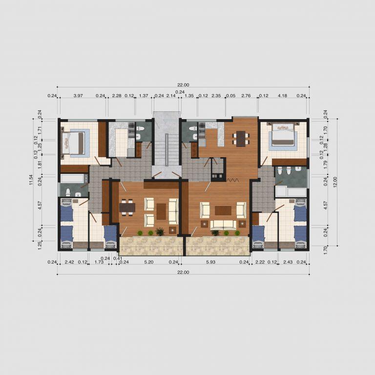 2D Grundrissplan _ Kreatives Projekt 3