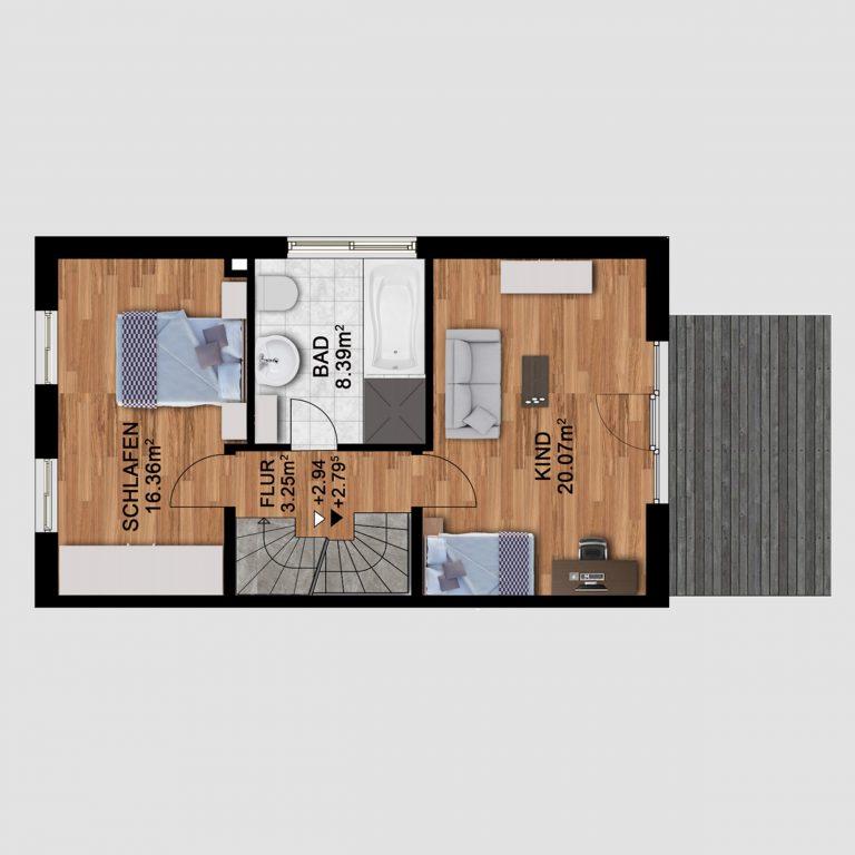 2D Grundrissplan _ Kreatives Projekt 5