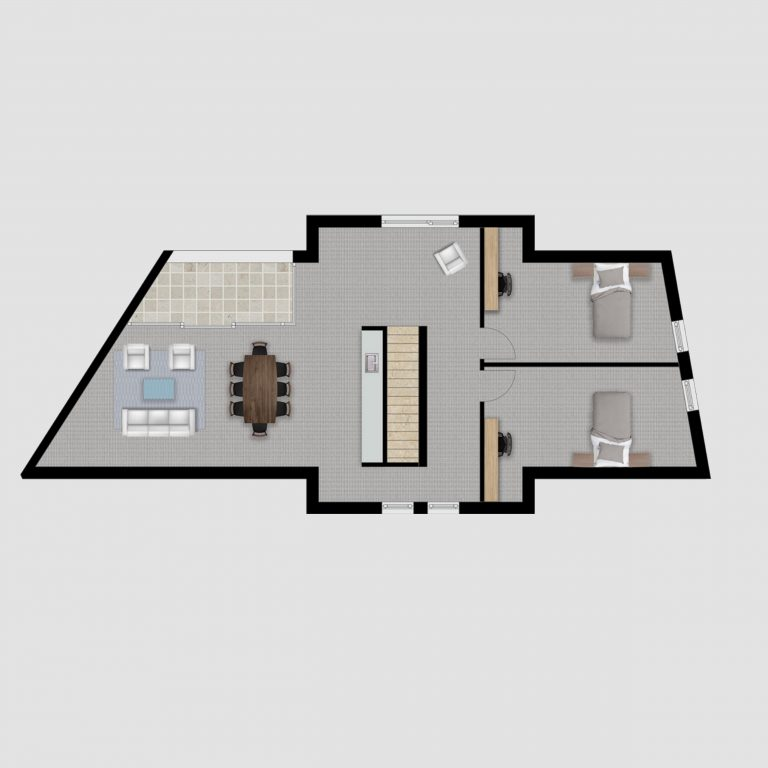 2D Grundrissplan _ Kreatives Projekt 7